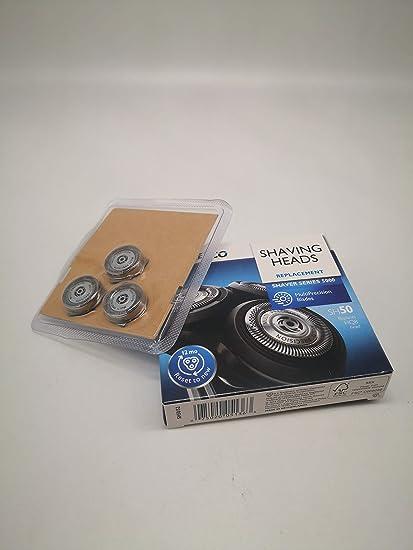 Cabezales de repuesto para afeitadora Philips Norelco serie 5000 (S5xxx) compatible con AquaTouch (S5xxx) compatible con S6000 (S6XXX) (reinicia tu afeitadora a nueva): Amazon.es: Belleza