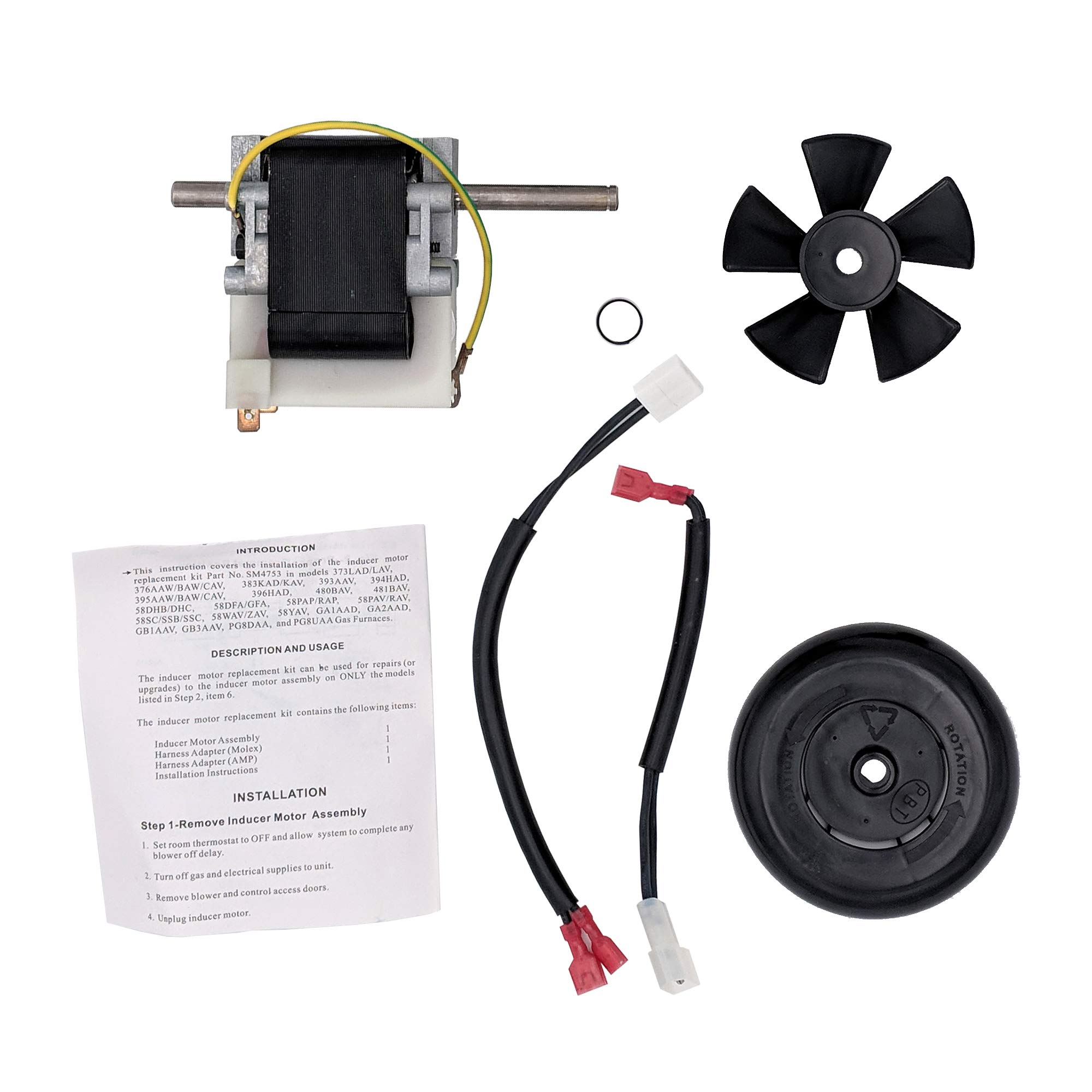 Supplying Demand 318984-753 Draft Inducer Motor Kit Compatible With Carrier by Supplying Demand