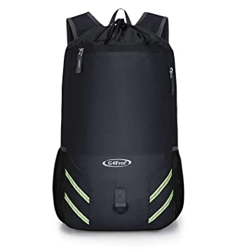 G4Free 32L Drawstring Foldable Backpack Lightweight Gym Sports Rucksack  Swimming Outdoor Travel Bag for Men Women 523d2bfd51a20