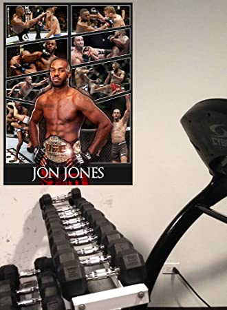 Jon Jones Azione Collage Poster, Formato A1, A2, A3, A4, MMA Champ ...