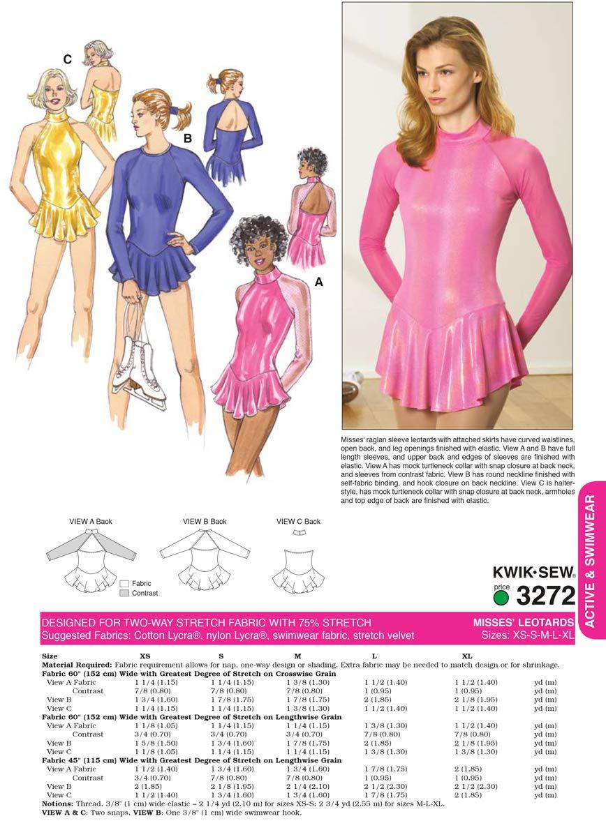 Size XS-S-M-L-XL Kwik Sew K3272 Leotards Sewing Pattern