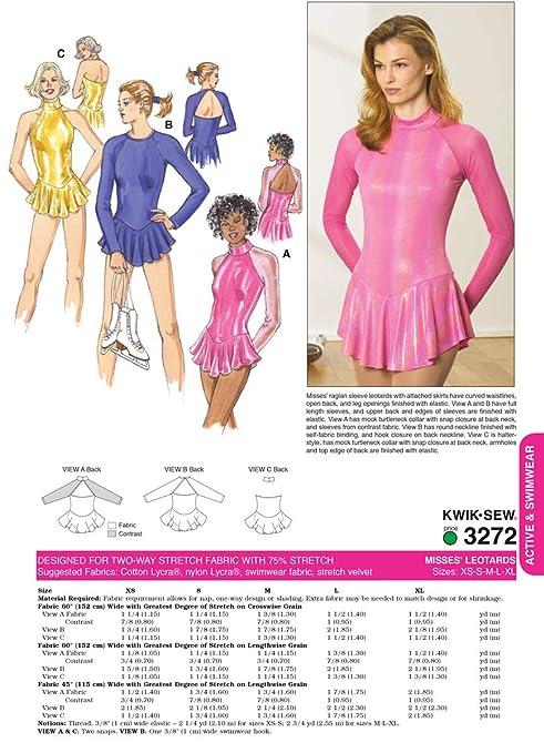 Kwik Sew 3272 - Patrones de costura para confeccionar ropa deportiva ...