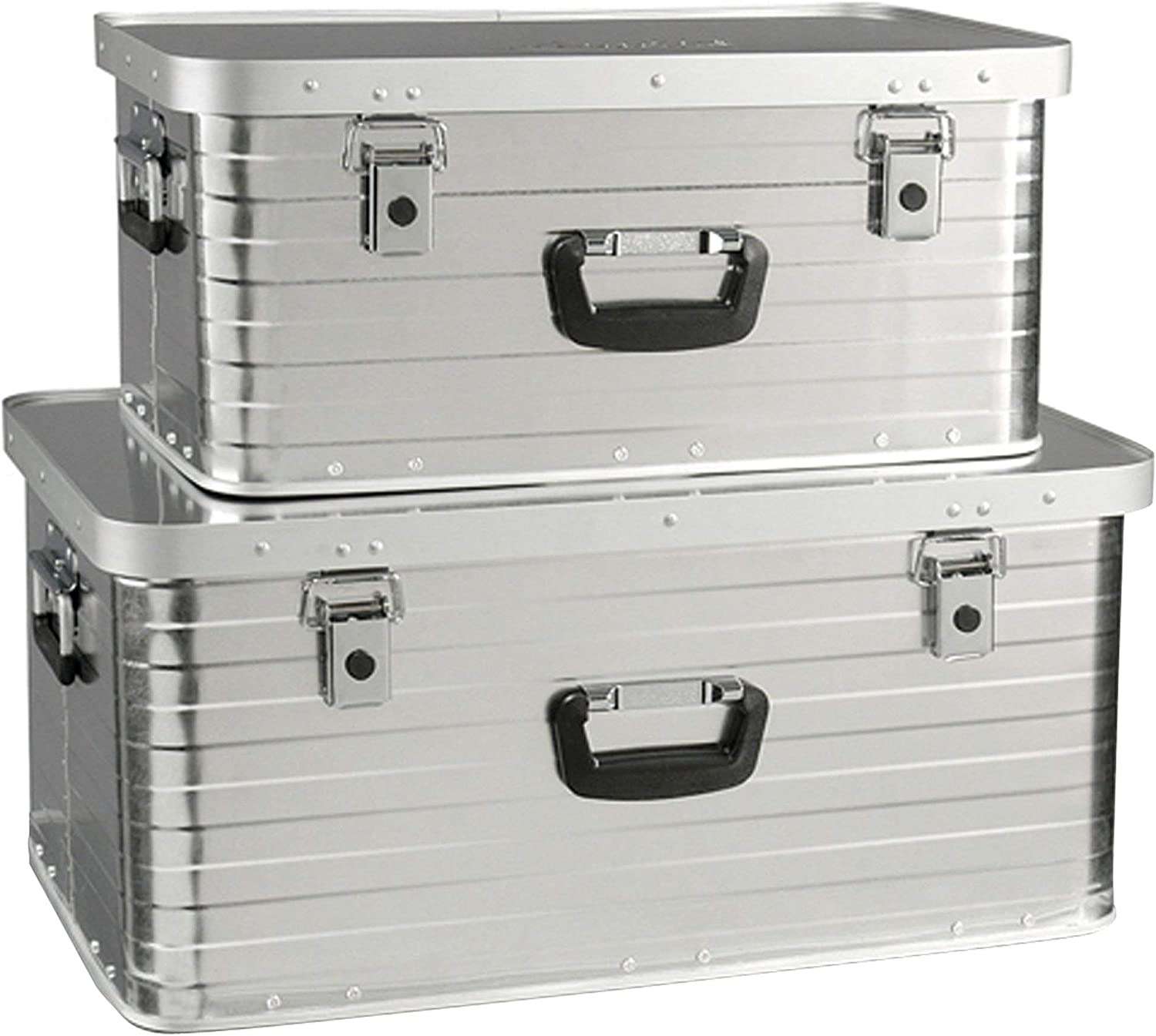 Heco Enders Toronto Storage Box Set 2 (47 l, 80 l), Silver: Amazon.es: Jardín