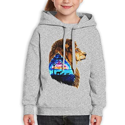 Kids Pullover Lion Is Homesick Hoodie Casual Hooded Sweatshirt Best Gift Idea For Teens Boys Girls Ash