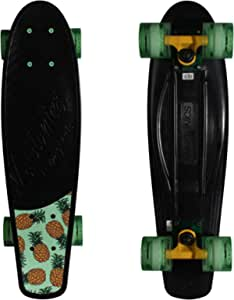 Kryptonics Original Torpedo 22.5 Inch Complete Skateboard - Black Pineapple