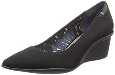 Womens Shoes Anne Klein Rushour Navy Fabric