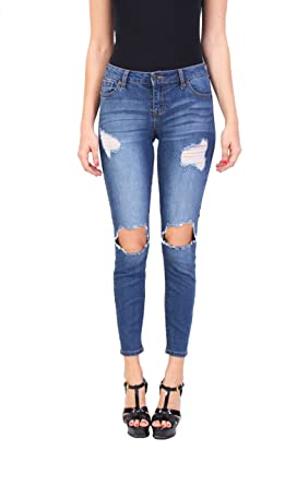 3426fa1c Celebrity Pink Women's Fashion Blue Jeans | Ankle Skinny Jeans | Middle  Rise | Button-