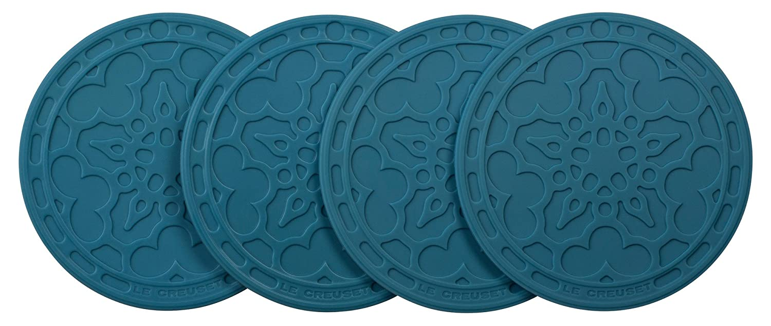 Le Creuset Silicone French Coasters, Set of 4 (White) FB510-16