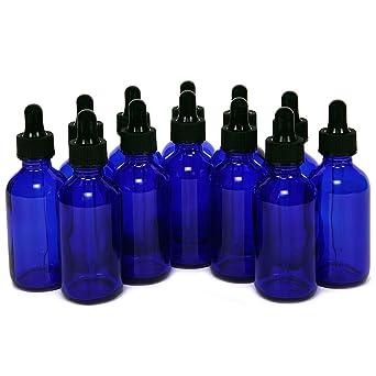 Magic Show 12 piezas 1oz (30ml) azul cobalto de cristal redondo con botellas de