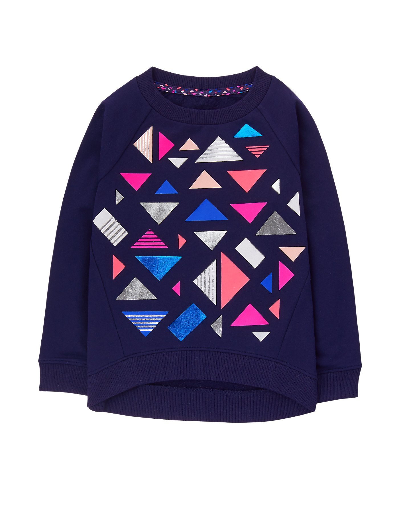 Gymboree Little Girls' Printed Popover, Navy Triangle, XS