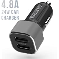 iVoltaa 4.8 A - 24W Dual Port Metal Car Charger with Micro USB Cable – Black