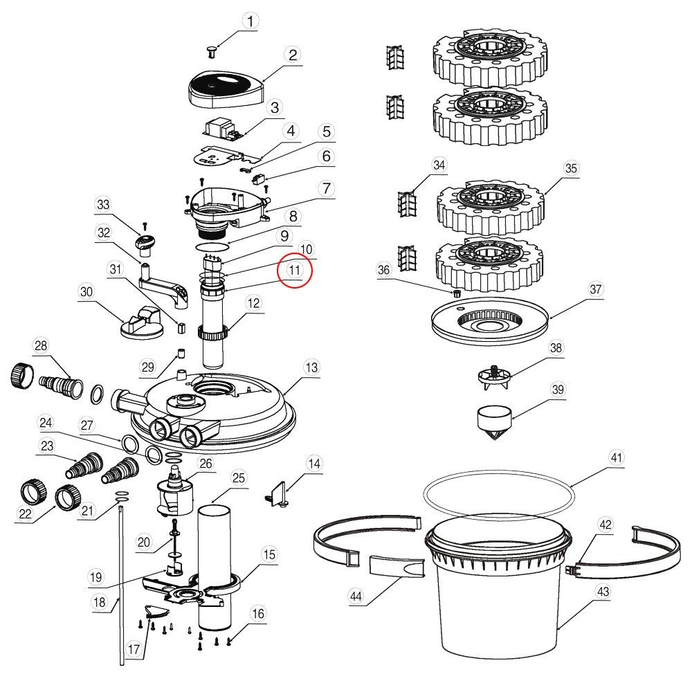 SunSun Pi/èce d/étach/ée CPF-2500 Filtre de Bassin /à Pression Tube de Quartz