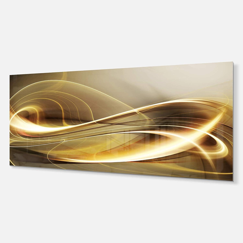 28x12 Designart Elegant Modern Sofa-Abstract Digital Metal Wall Art-MT6846-28x12