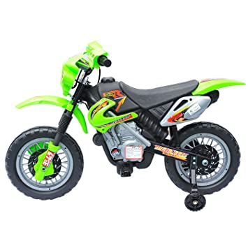 Outsunny - Eléctrico infantil Moto rrad, Verde: Amazon.es: Bebé