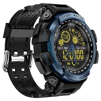 VNEIRW LEMFO LF21 - Reloj inteligente deportivo con cámara remota, 5 ATM, impermeable,
