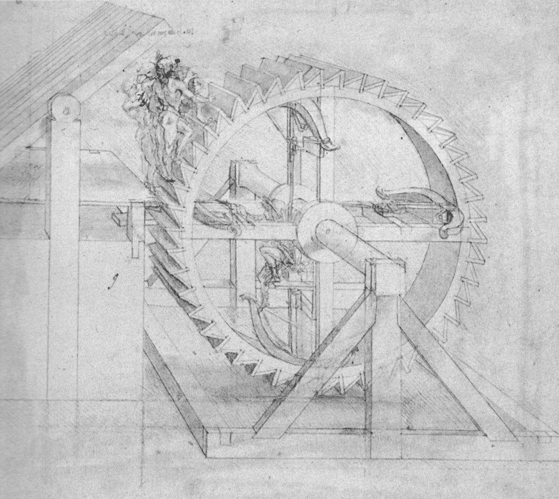 Leonardo Da Vinci - Da Ingranaggio - Large - Archival Matte - Black Frame Vintage Wall Art Poster Picture Giclee Artwork Modern Contemporary & Fine Art Print