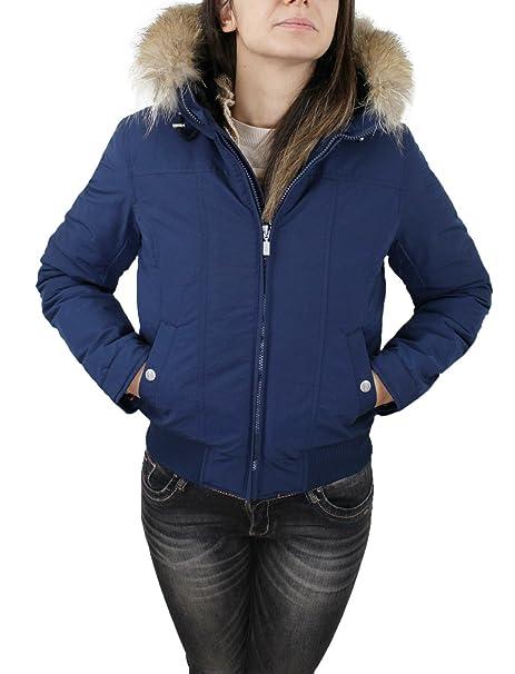 l'ultimo fe6d8 654cd Refrigue Giubbotto Piumino donna Aspek blu casual Parka ...