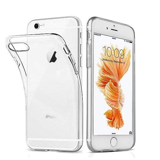 Ylife Hülle Kompatibel iPhone 6 Plus, iPhone 6s Plus, Ultra-dünn Transparent Weiche Silikon TPU Stoßstange Handyhülle Schutzh