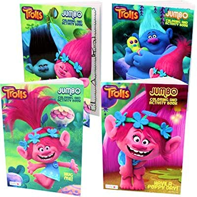 Trolls coloring and activity Book - Set Of 4: Toys & Games