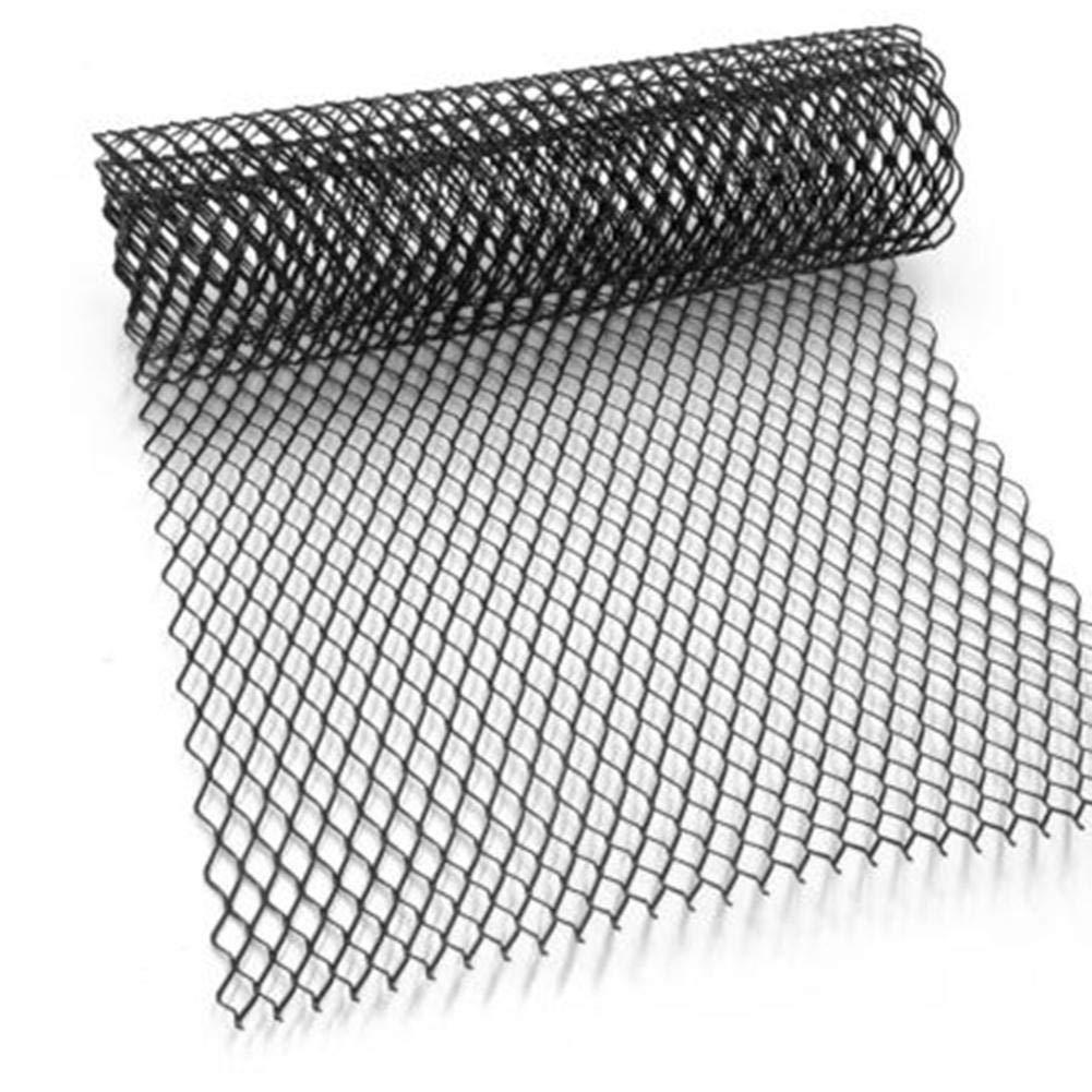 Shiwaki 1x Parrilla de Pl/ástico ABS para Parachoques de Coche Rejilla R/ómbica Malla de Aleaci/ón de Aluminio//Negro