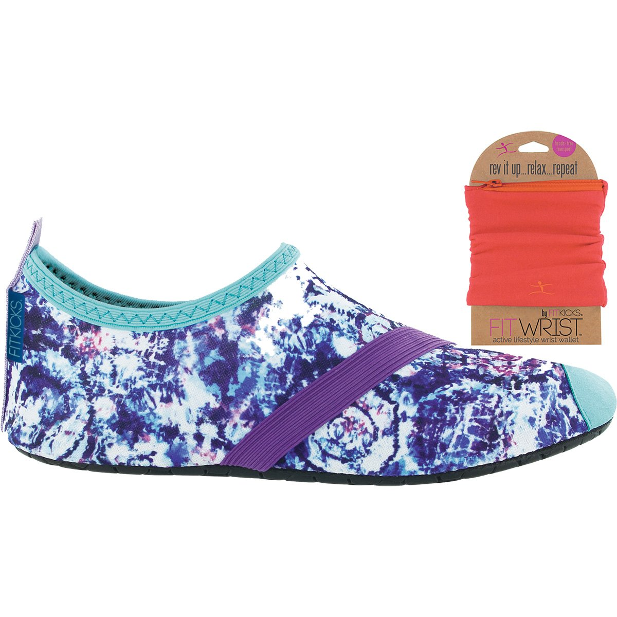 FITKICKS Womens Shoes with FITWRIST Wallet, Cloud Burst Shoe (X-Large (10-11), Fuchsia)