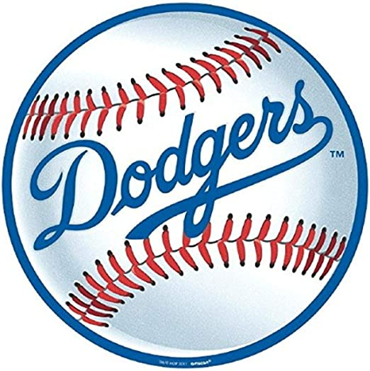 Amazon Com Amscan 199356 Los Angeles Dodgers Major League Baseball Collection Cutout Party Decoration 12 1 Ct Multi Color Toys Games