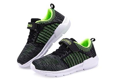1e9ee6d47c88a Vivay Kid's Sneakers Boys Girls Tennis Shoes Lightweight Running Sports  Shoes Grey Green