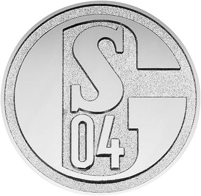 Fc Schalke 04 3d Chrome Logo Car Emblem Sticker S04 Sport Freizeit
