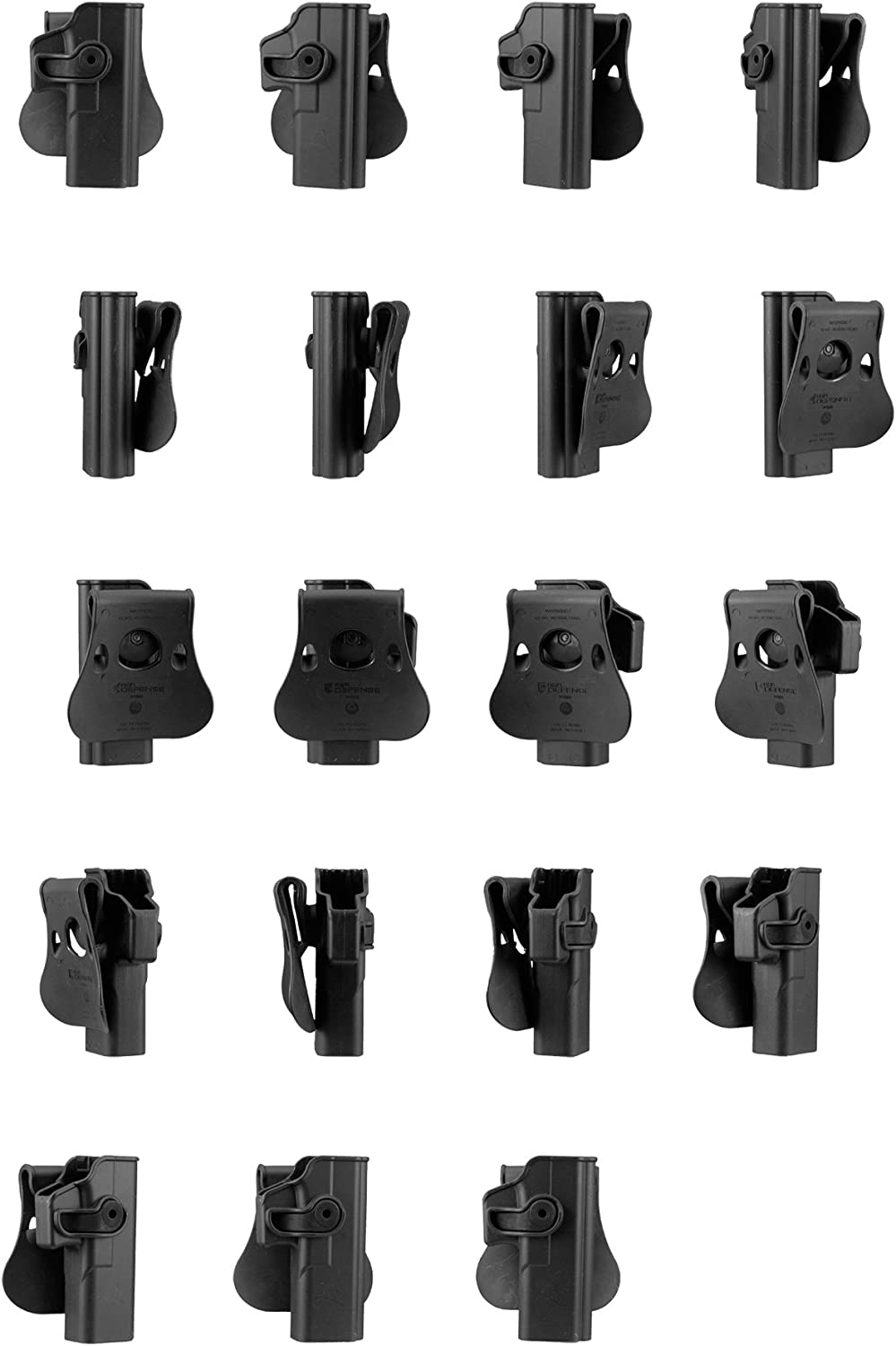 IMI Defense Glock 20//21 GEN 4 Roto Retention Tactical Pistol Handgun Holster Double Magazine Mag Pouch