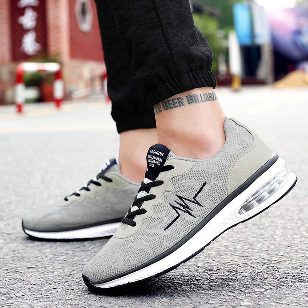 Dreamyth-Spring Men Outdoor Mesh Casual Sport Shoes Net Surface Flat Running Shoes Non-Slip Breathable Light Sneakers
