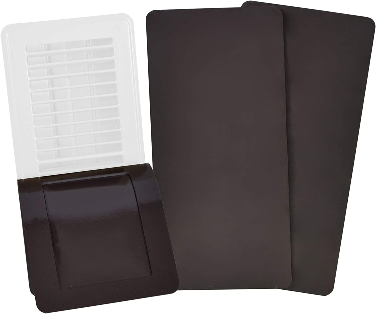 "SEAL360 Magnetic Vent Covers (3-Pack), Pockets for Complete Seal, 5.5"" X 14"" (Brown) for Floor, Wall, or Ceiling Vents and Air Registers, for RV, Home HVAC and AC Vents, Vent Not Included"