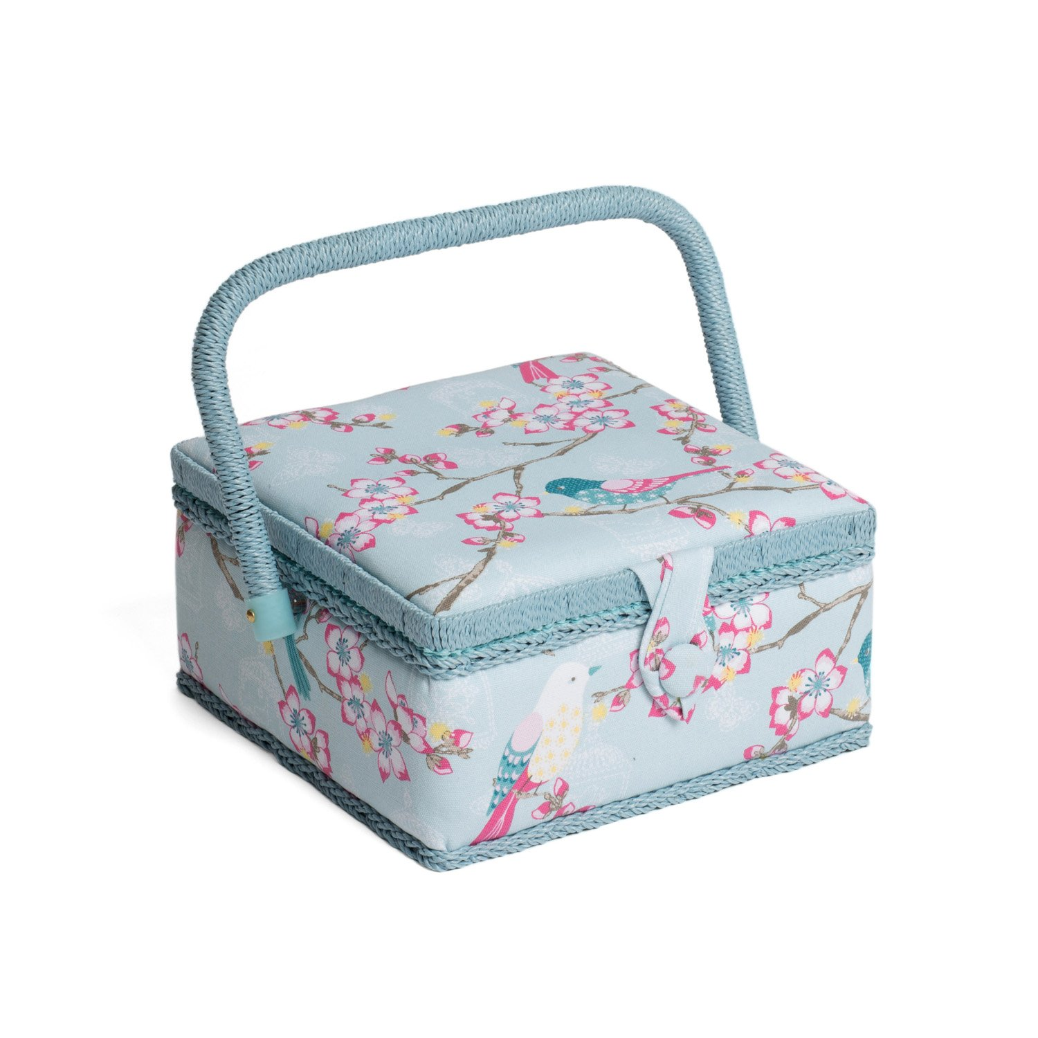 Hobby Gift MRS/198 | Tweet Print Small Sewing Box | 20x20x11cm Groves