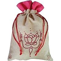 Rawbags ' Lotus-Hand Drawn ' - Natural colour Potly& Gift Bag