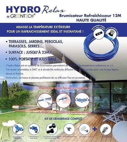 Brumisateur De Terrasse 12 Mètres 9 Buses Filtre Anticalcaire Hydro Relax