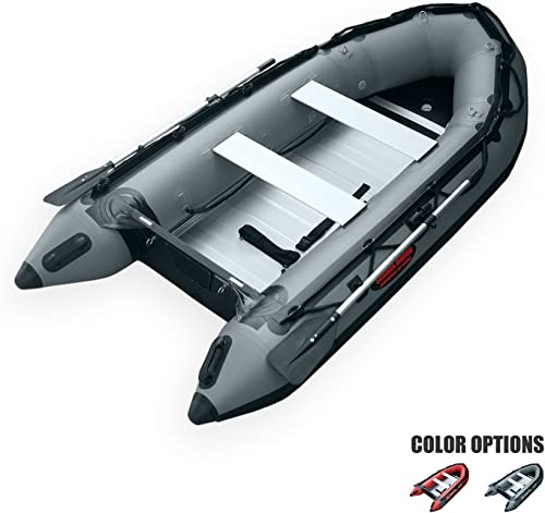 SEAMAX Ocean320 Heavy Duty 10.5 Feet Inflatable Boat with Rigid Aluminum Floor and V-Shape Soft Bottom