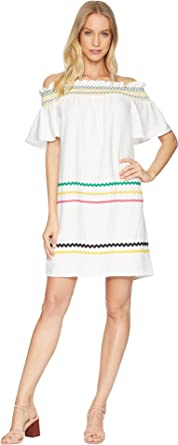 a3349065c3e8 CeCe Women s Short Sleeve Off The Shoulder Smocked Shift Dress New Ivory  X-Small
