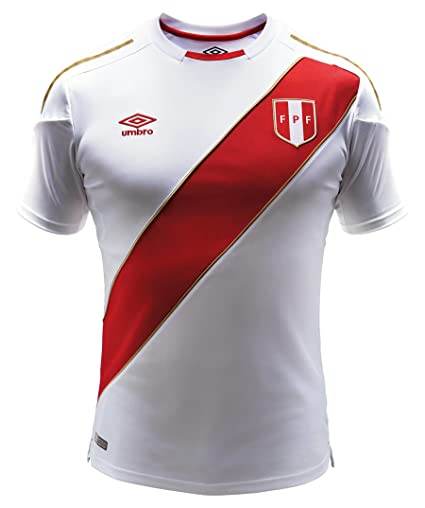 d4e4c6455cb Amazon.com   Umbro Peru Home Jersey 2018 2019 - M   Sports   Outdoors