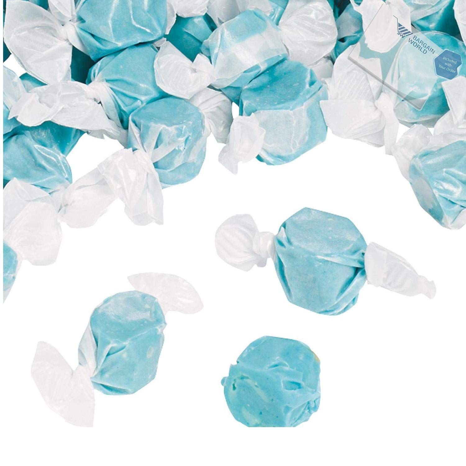 Bargain World Blue Salt Water Taffy (With Sticky Notes)