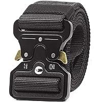 APERIL Cinturón Táctico Militar Ajustable Cintura Hombres Lona Nylon Hebilla de Mmetal