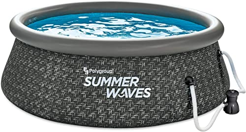 Summer Waves P1A00830A 8ft x 2.5ft Quick Set Ring Above Ground Inflatable Outdoor Swimming Pool