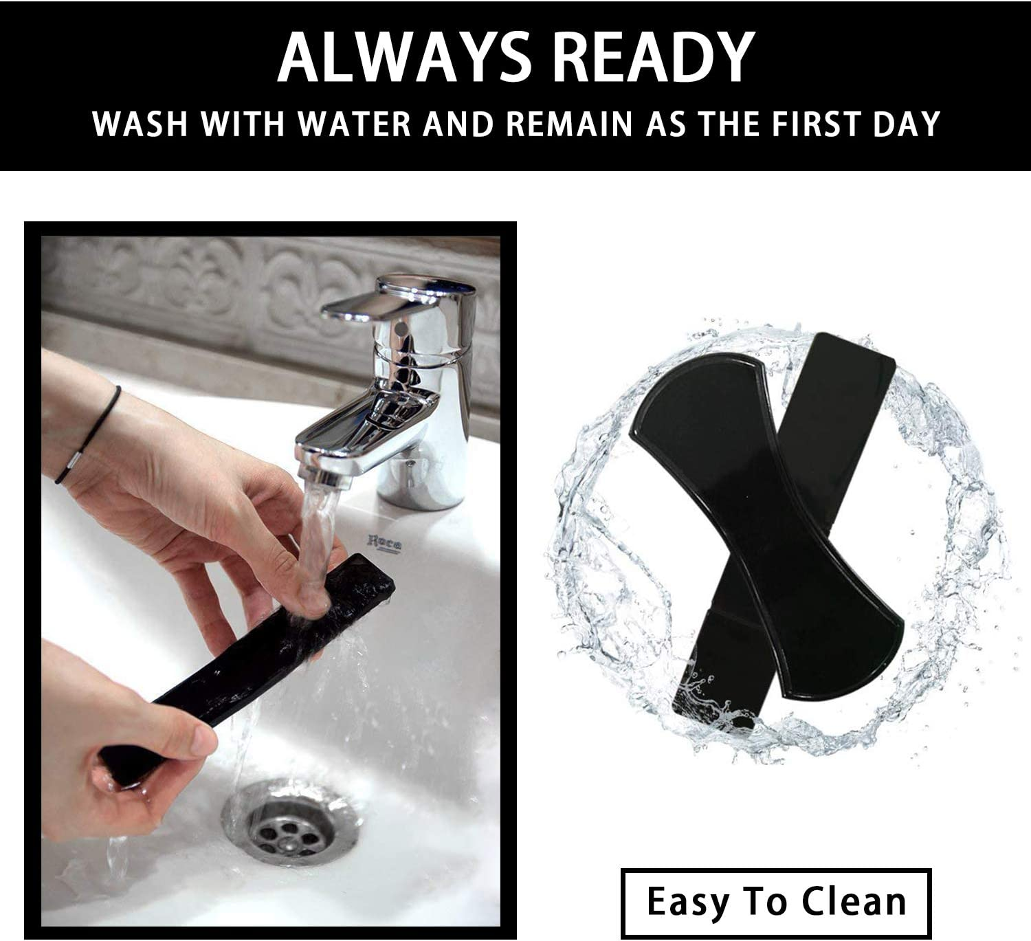 Glass Keys Whiteboards Mirrors Viaky 8 Pack Reusable Sticky Gel Car Mount Holder Mat Non-Slip Cell Phone Pad Washable Anti-Slip Auto Cell Pads Holders for Car Dashboard Metal Black/&Clear