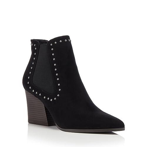 5adbd294dc2 Debenhams Faith Womens Black Suedette Mid Block Heel Pointed Chelsea Boots  6  Amazon.co.uk  Shoes   Bags