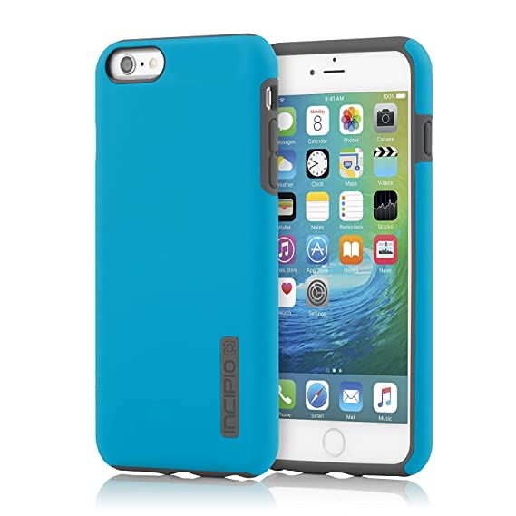 sale retailer 98e33 d9c2b iPhone 6 Plus/iPhone 6s Plus Case, Incipio [Hard Shell] [Dual Layer]  DualPro Case for iPhone 6 Plus/iPhone 6s Plus-Cyan/Charcoal