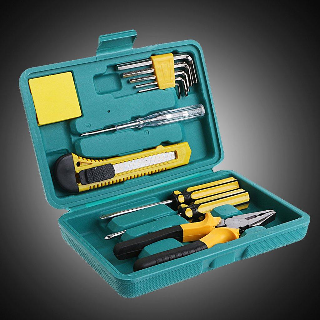 Techinal 11Pcs Car Repair Tool Kit Car Emergency Tool Kit Auto Tool Kit For Test Pen Screwdriver Hex Key Plier Car