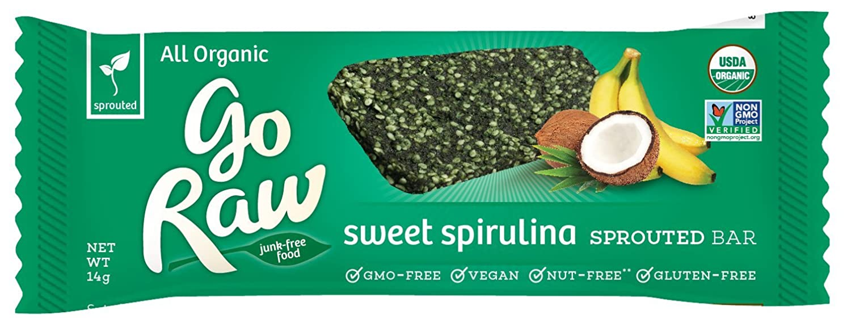 Amazon.com : Go Raw Organic Superfood Sprouted Bar, Sweet Spirulina ...