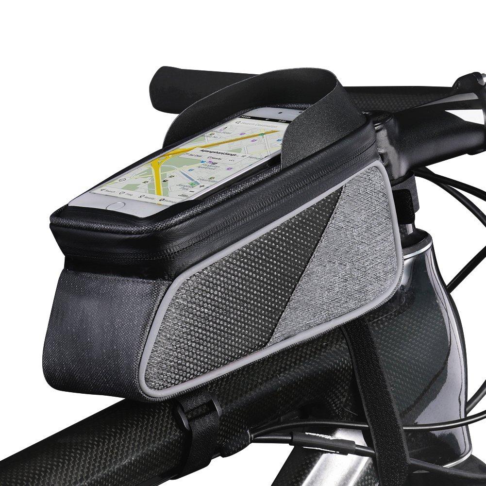 ROTTO Fahrradtasche Rahmentasche Oberrohrtasche Fahrrad Handy Tasche Vorne Sensitive Touch-Screen Wasserdicht