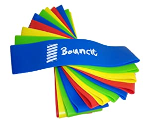 Bouncit Bouncy Chair Bands - Sensory ADHD Fidget Toy for Chairs - Fidget Bands for Kids Home and School Chairs - Focus Aid Alternative Seating Foot Fidget Rubber Stretchy Elastic Chair Bands (12-Pack)