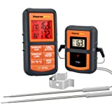 ThermoPro TP08S Wireless Digital Meat Thermometer for Grilling Smoker BBQ Grill Oven Thermometer with Dual Probe Kitchen Cook