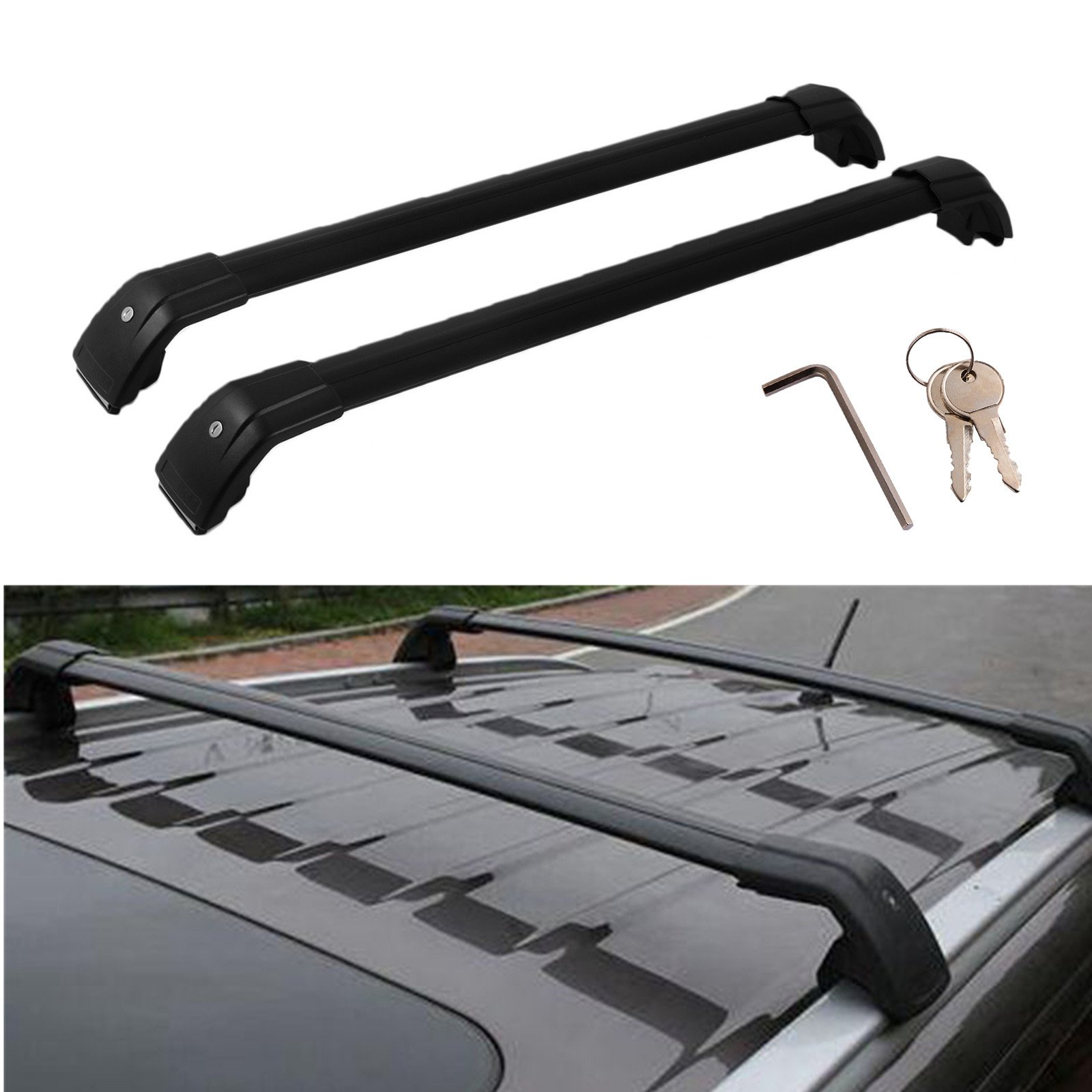 Mophorn Baggage Roof Rack Rail Cross Bar Carrier Fit for Infiniti QX56 QX80