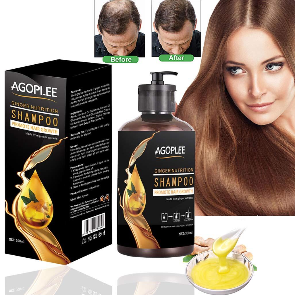 Hair Growth Shampoo for Men & Women, Anti-Hair Loss Shampoo, Hair Loss shampoo, Natural Old Ginger Hair Care Shampoo, Helps Stop Hair Loss, Grow Hair Fast, Hair Loss Treatment (10OZ)